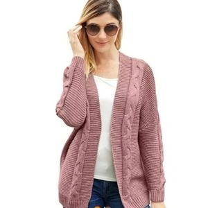 BOGO 🆕️Chunky Cable knit Blush Cardigan
